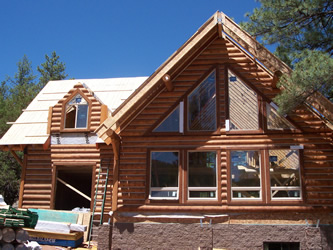 christopher creek log home