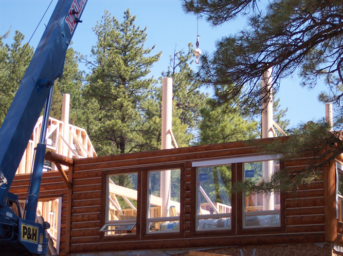 Christopher Creek Arizona Log Home Construction
