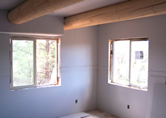log home drywall