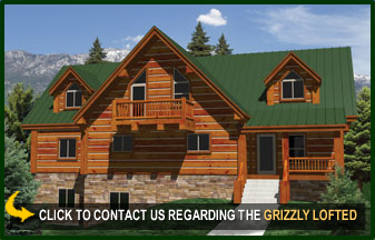 Grizzly Lofted Log Cabin Floor Plans